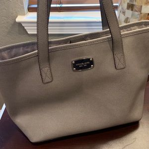 Michael Kors grey/silver tote bag